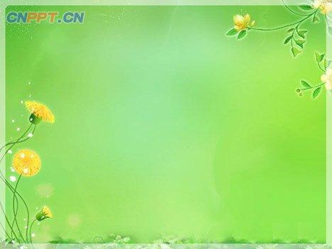 绿色春天PPT背景图片下载
