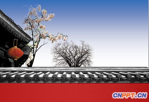 古典中国故宫ppt模板   ;关键词:古典,中国风,历史课件.